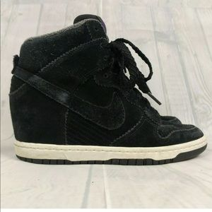 Nike Sky High Dunk Hidden Wedge Sneakers Suede